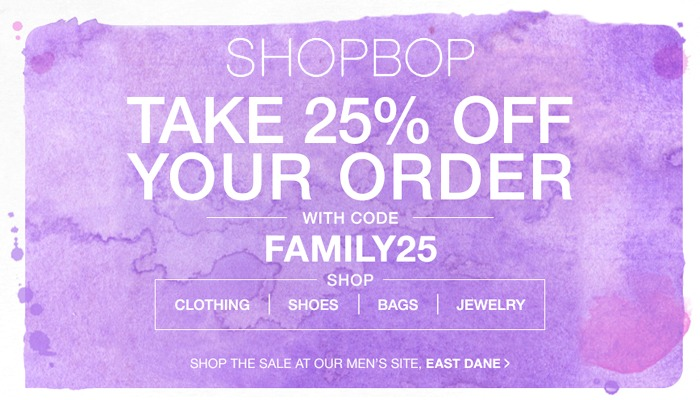 Shopbop Friends & Family Sale Ends Today!