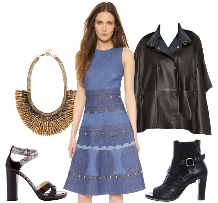 Look of the Week: Summer to Fall Denim Dresses