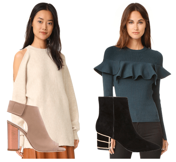 Look of the Week: Cozy Sweaters and Chunky Heels