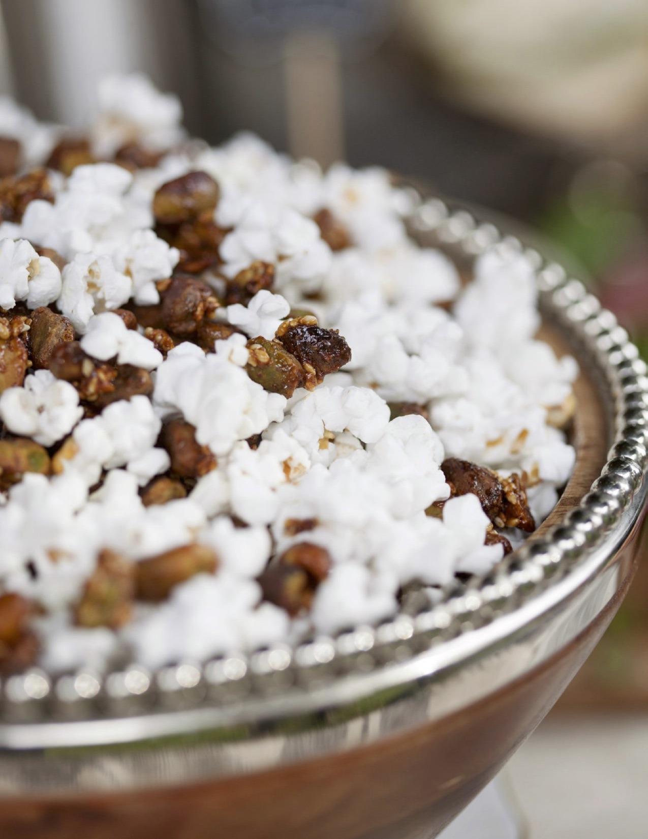 Sesame Glazed Pistachio Popcorn