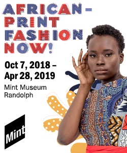 Mint Museum African Print Fashion Ad