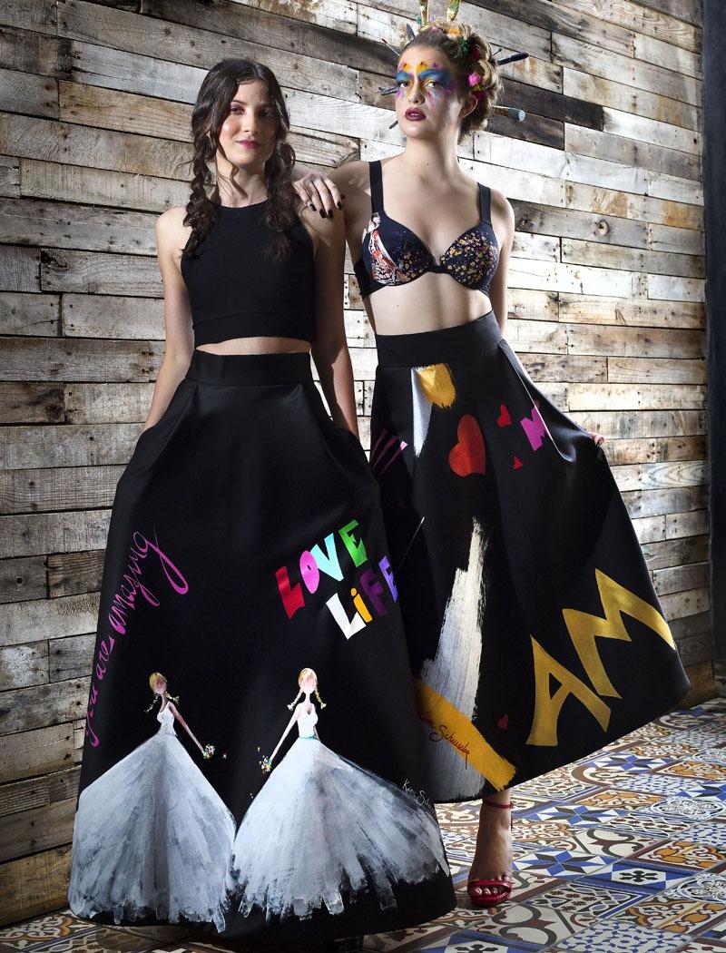 Kim Schuessler painted skirts