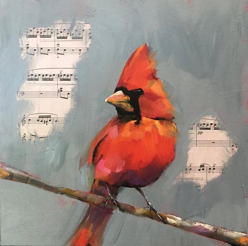 Autumn Cardinal by Wendy Bilas