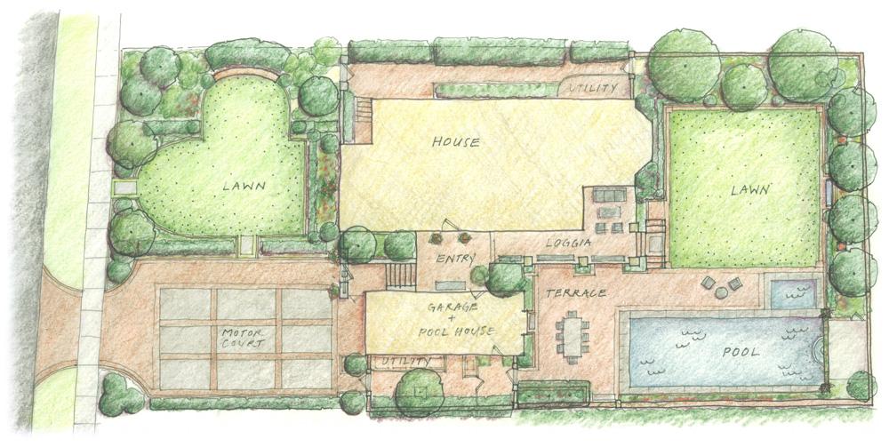 An Urban Retreat - Landscape Design Rendering