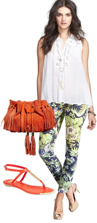 Steal floral jeans