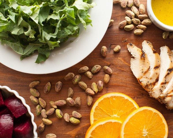 Kale & Romaine Citrus Salad with Orange Ginger Dressing