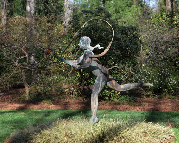One of the beautiful focal points of the garden is Atlantis, Goddess of the Sea.