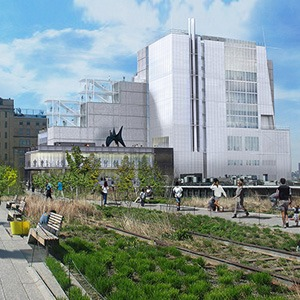 Rendering of the new building, view from the High Line. Courtesy Whitney Museum.