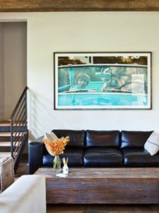 An enlarged family portrait of Alex, Max and Maya by local photographer Andrew Cebulka provides another focal point for the space.