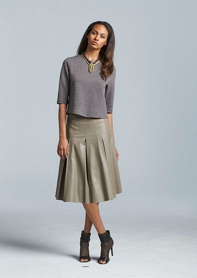 belk longer skirt look