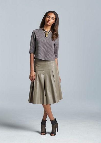 belk longer skirt look