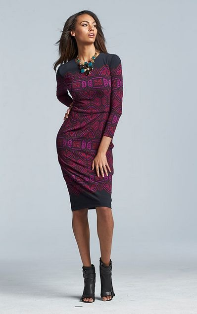 belk midi-length sheath dress