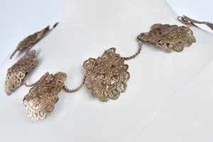 Cast lace neckpiece by Gabrielle Jewelry.