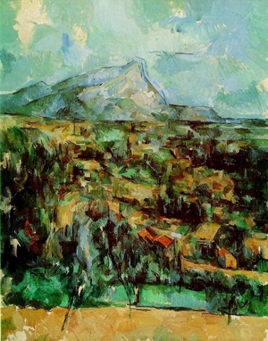 Paul Cézanne, Mont Sainte-Victoire, 1902. Oil on canvas. Estate of Henry Pearlman, New York.