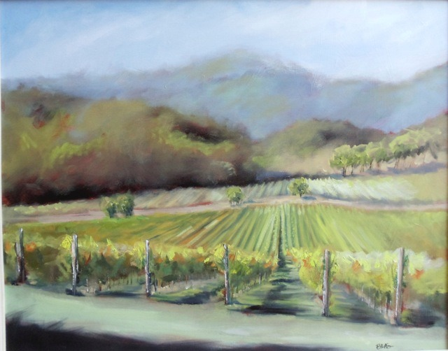 """Napa landscape"", 20 x 24, oil on canvas"
