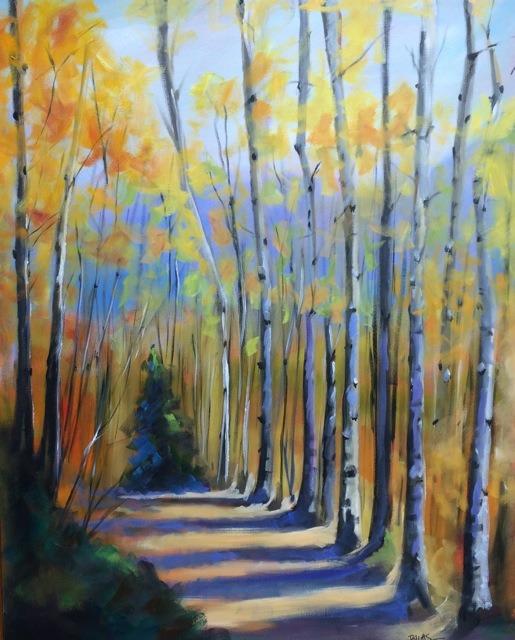 """Aspen Trail"", 30 x 40 oil on canvas"