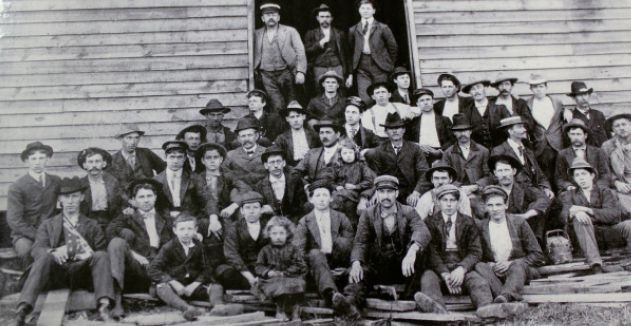 """The first known photo of Bassett Furniture, aka """"Old Town."""" Photo courtesy of Bassett Historical Center."""