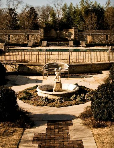 European garden design in Nashville