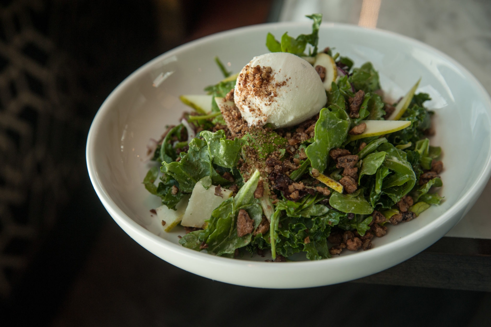 Pecan Salad with Blue Cheese Ice Cream