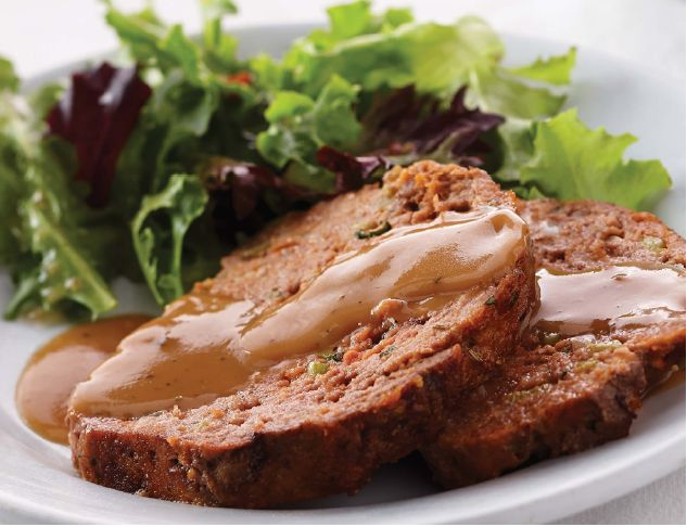 Meat Loaf with Herb Gravy