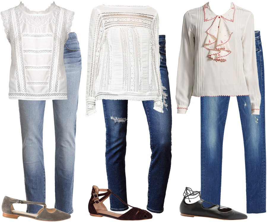Look of the Week: Chic White Shirts and Flats for Fall