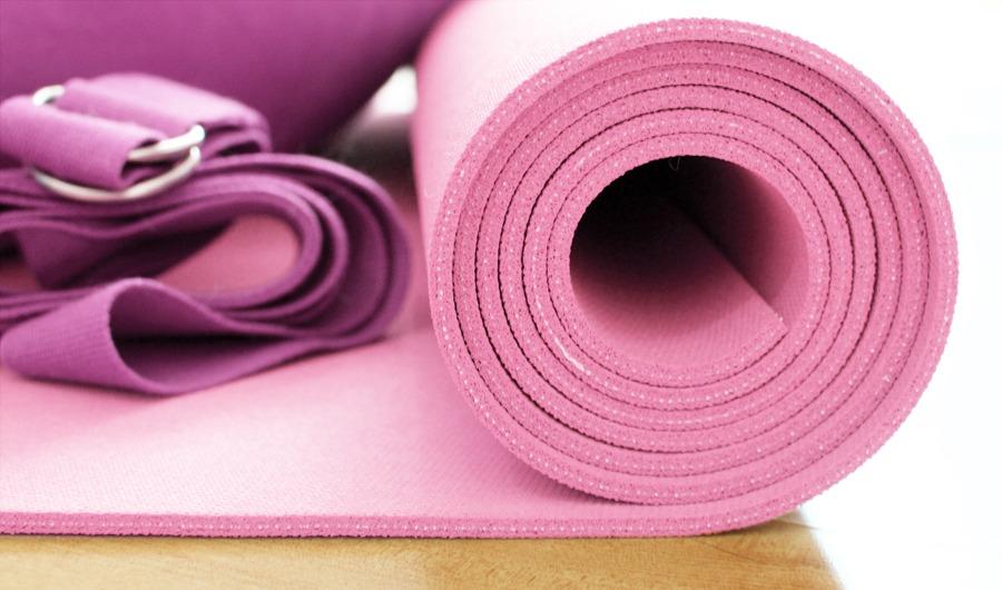 Yoga mat and belt