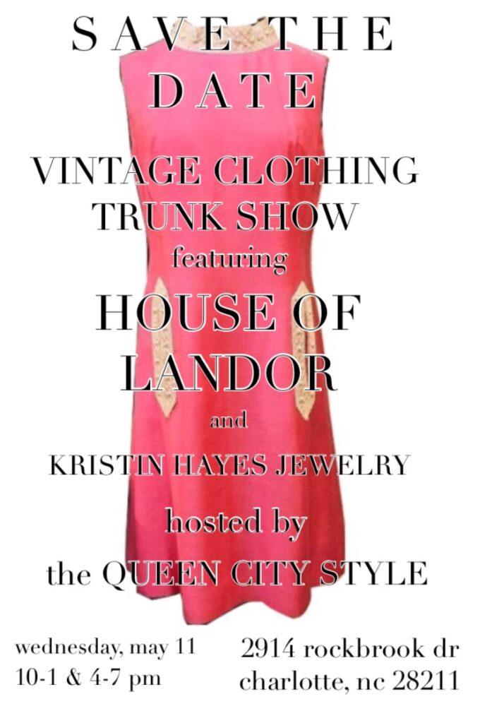 Vintage Glam Pop Up Shop Invite