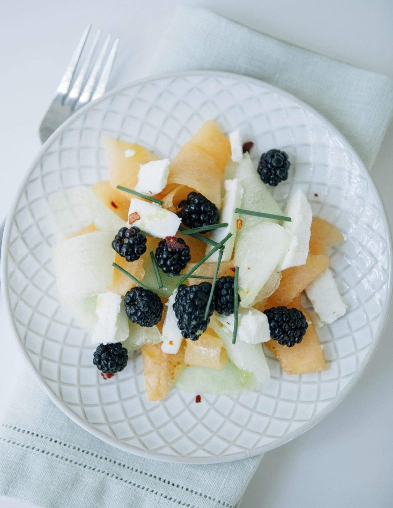 Melon, Berry, and Feta Salad