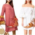 statement sleeve dresses and lace up sandals