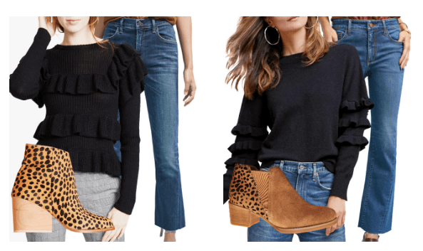 lightweight sweaters cropped jeans booties