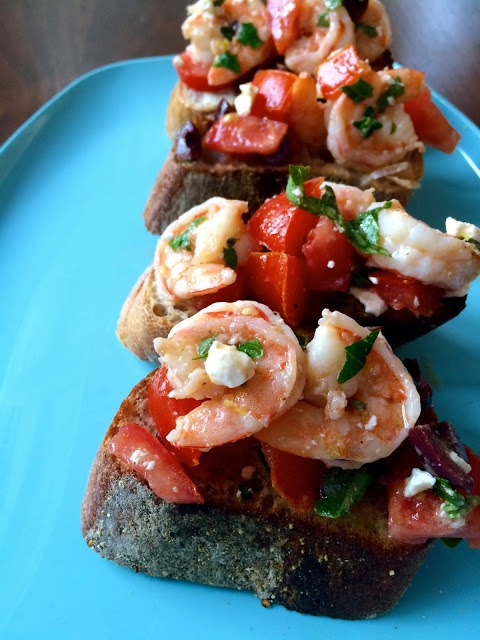 Shrimp and Feta Bruschetta
