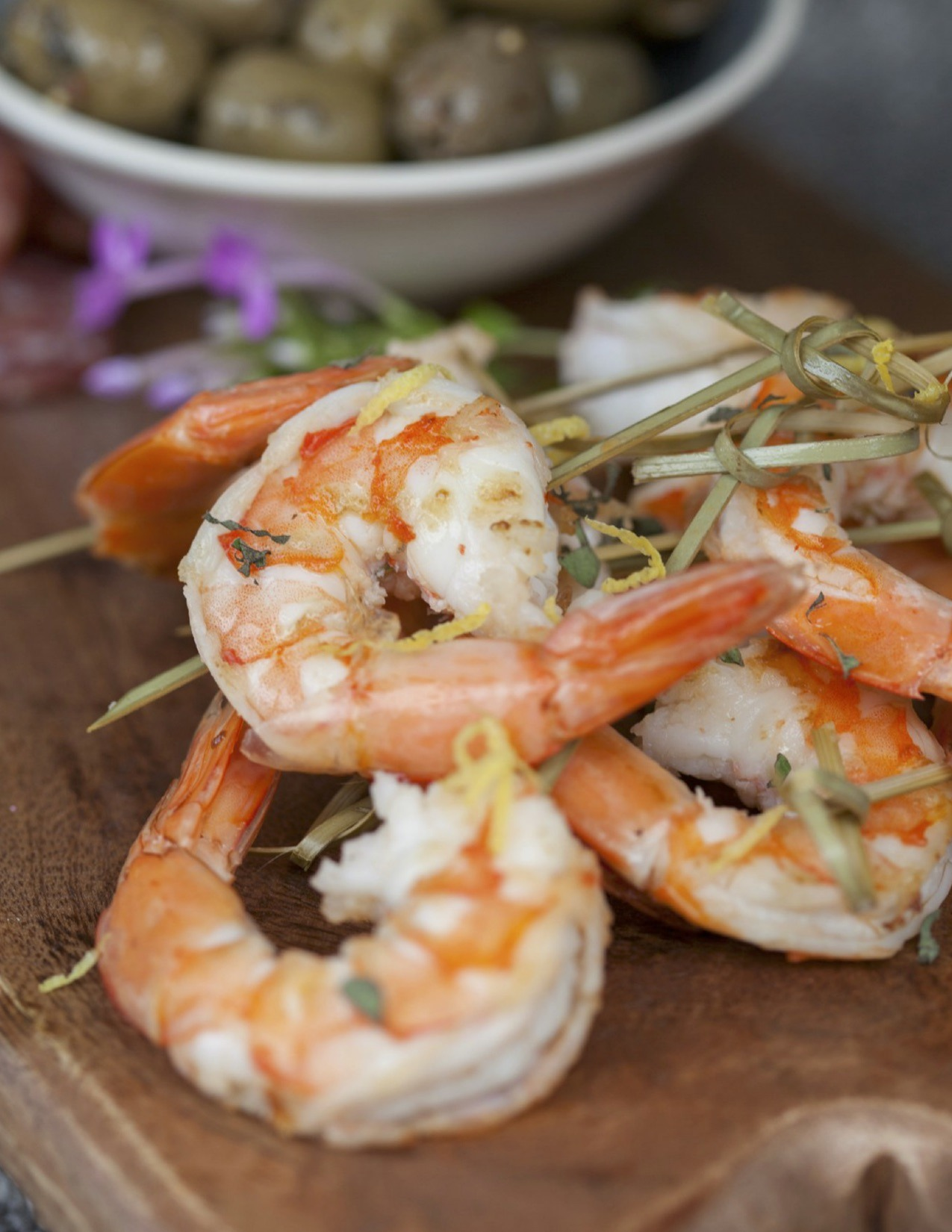 Grilled Shrimp with Oregano and Lemon