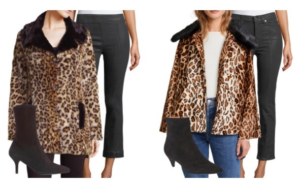 leopard coats coated jeans booties