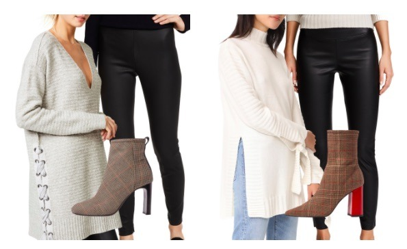 cozy sweaters leggings booties
