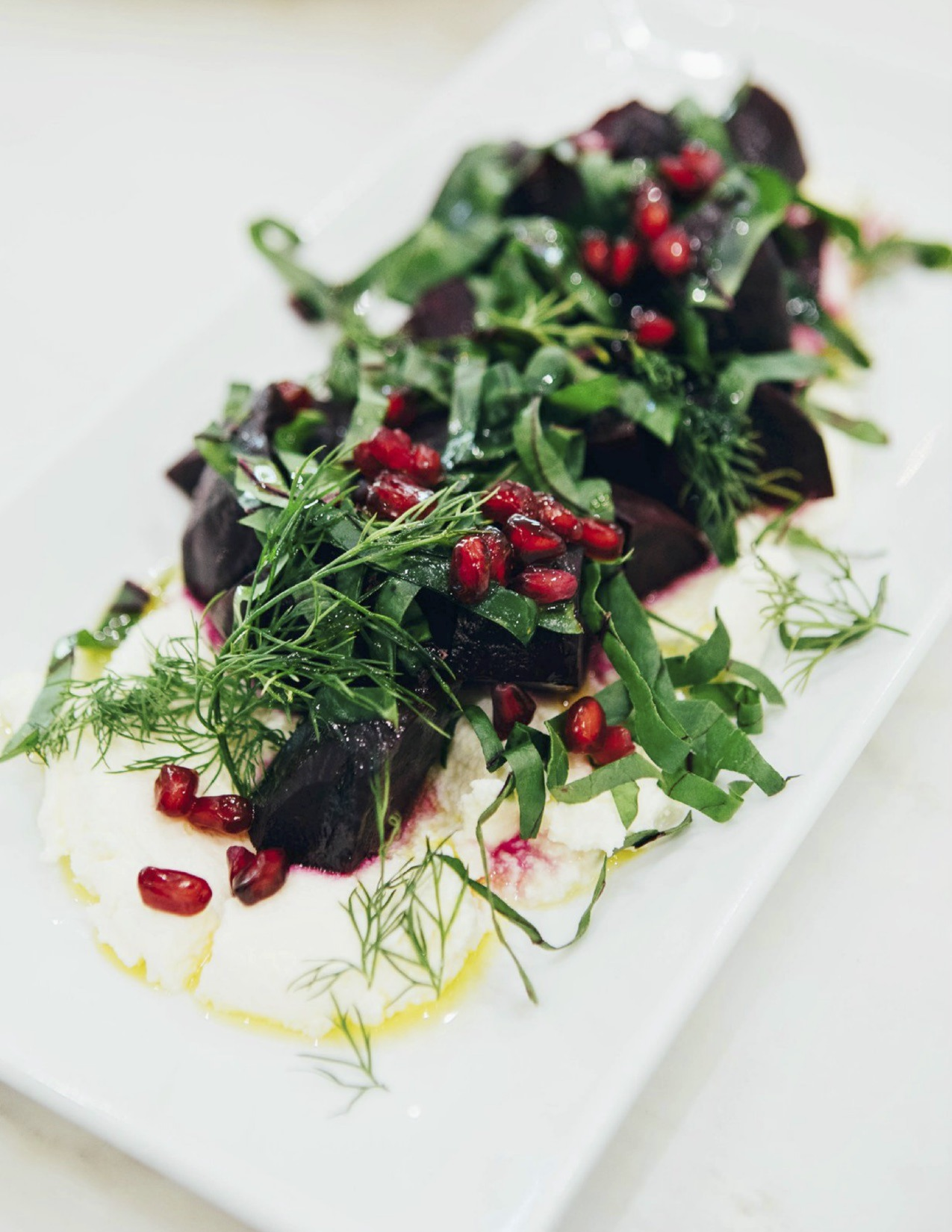 Roasted Beets with Beet Green Salsa Verde