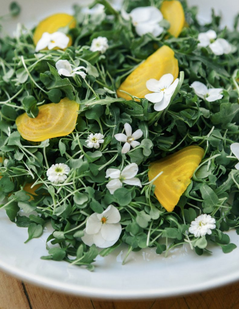 Green Goddess and Spring Microgreens Salad