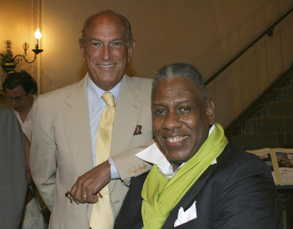 Oscar de la Renta and André Leon Talley