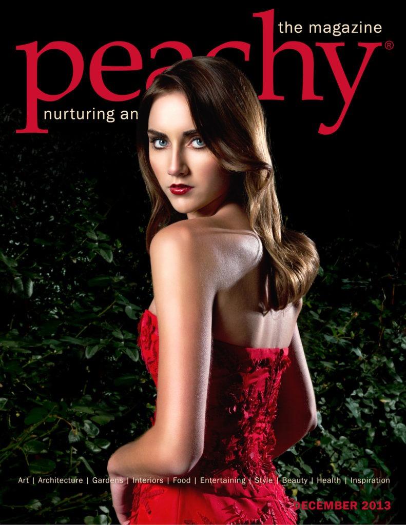 Peachy Holiday 2013 with Oscar de la Renta gown
