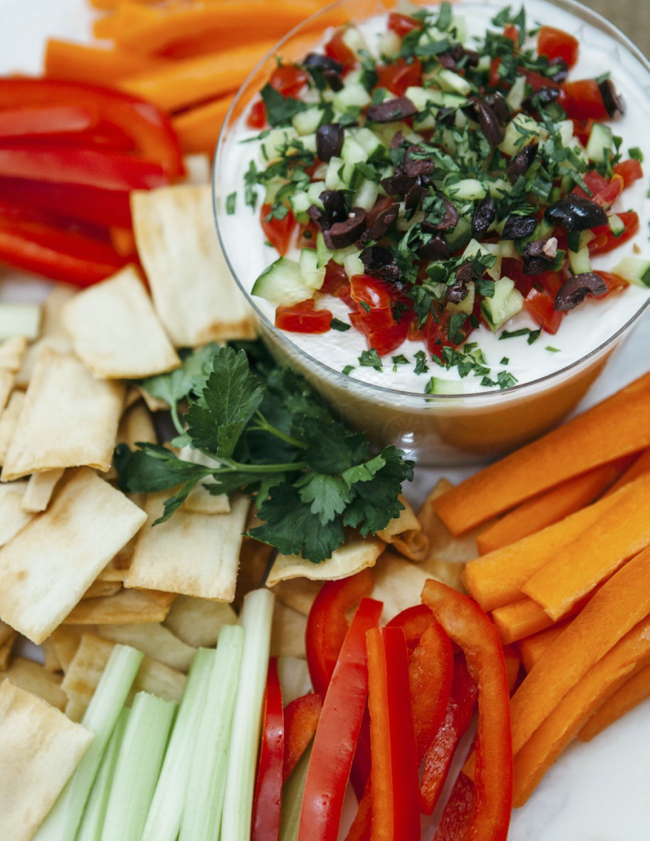 Easy Seven-Layer Greek Tzatziki Dip