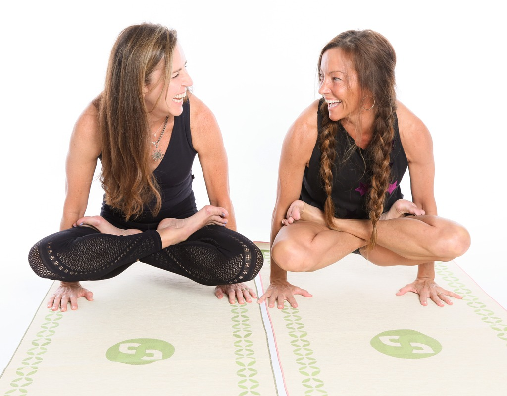 Blair Farrus and Johnna Smith using Soul Seal Yoga Mat Toppers