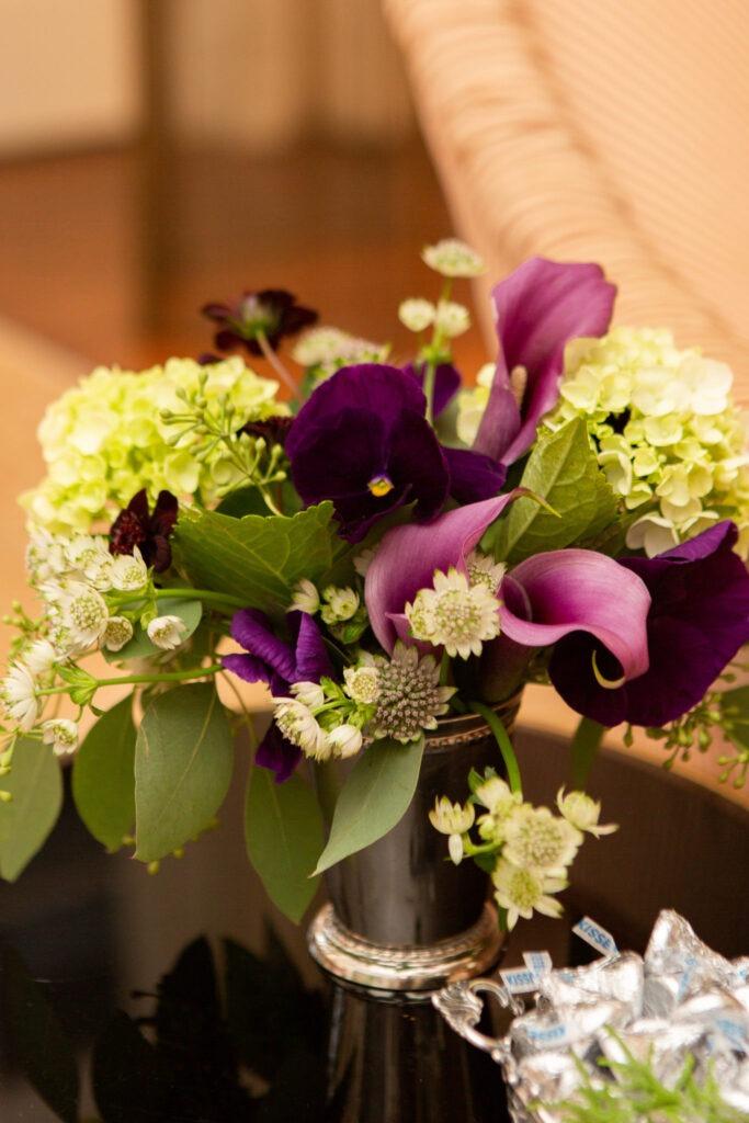 holiday entertaining floral arrangement