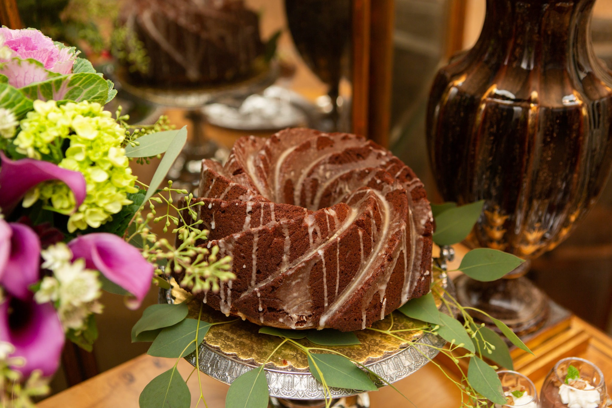 holiday entertaining dessert party gingerbread bundt cake
