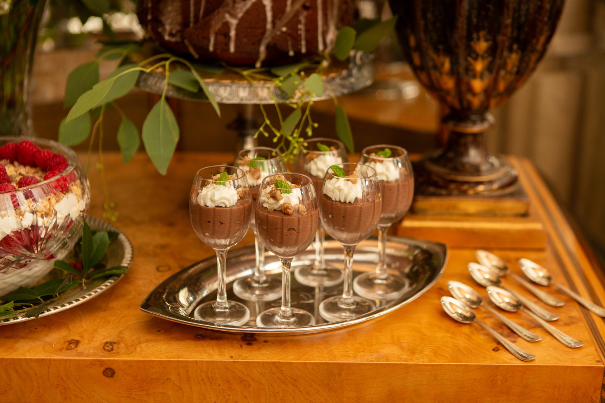 holiday entertaining dessert party chocolate budino