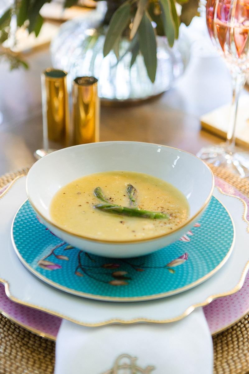 spring entertaining simply elegant asparagus soup