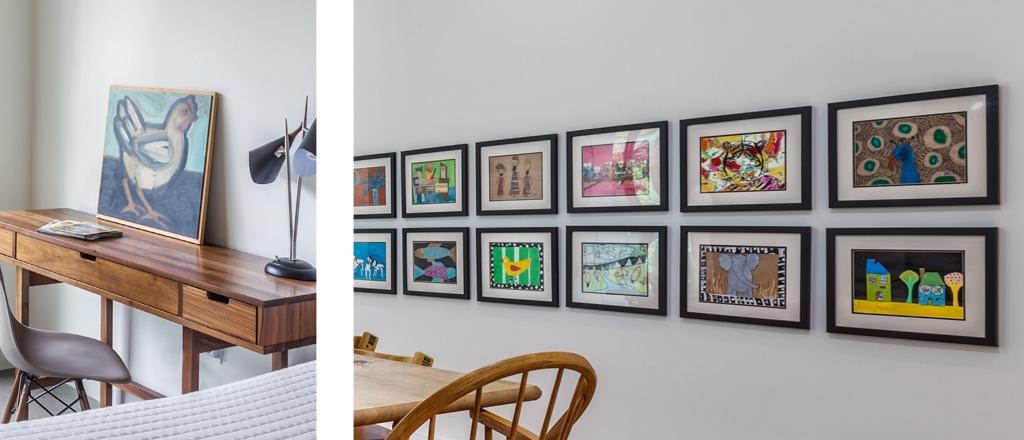 art collection modern home Greenville SC