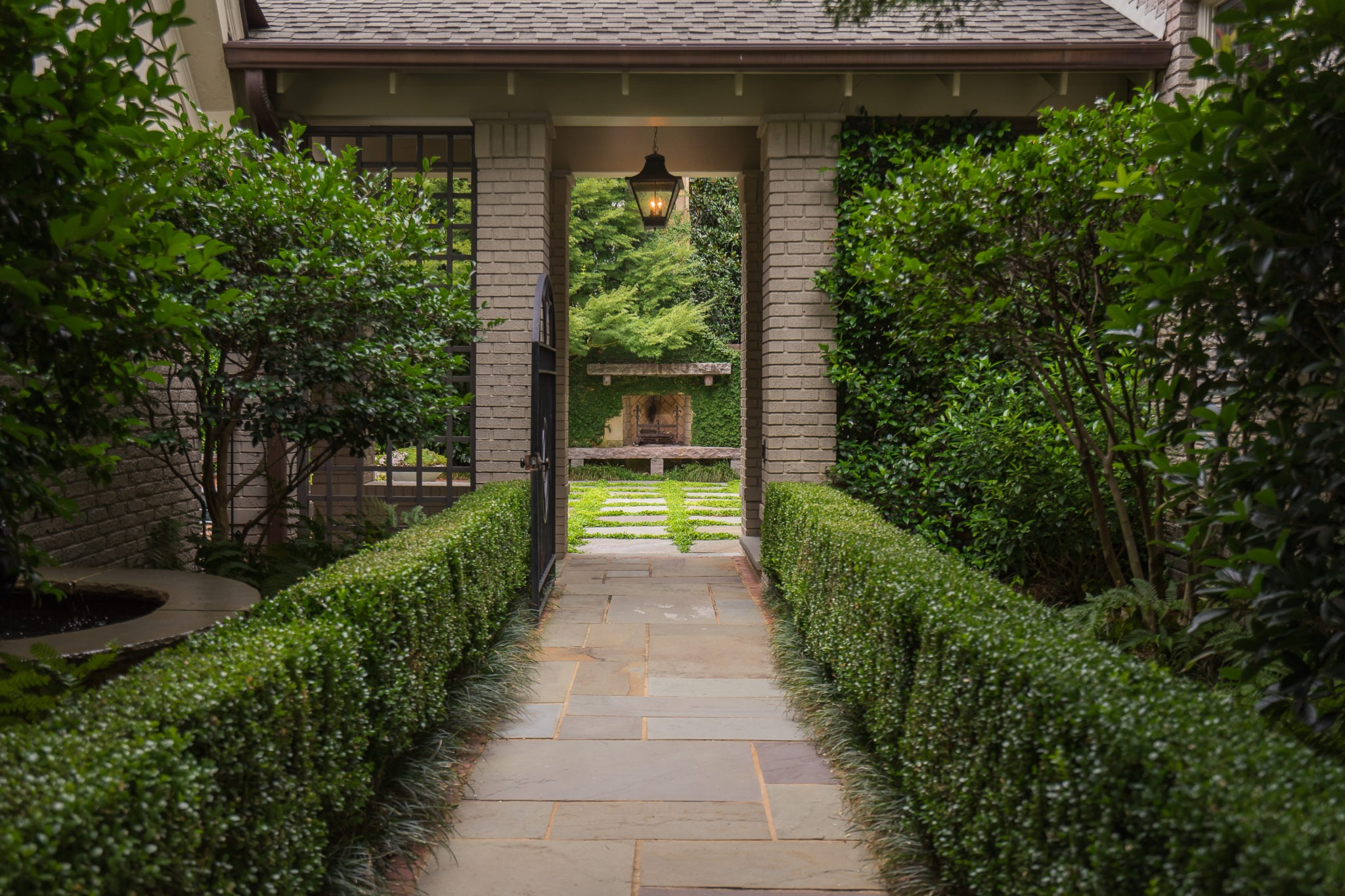 Garden Pathway Bluestone Brick Dabney Peeples