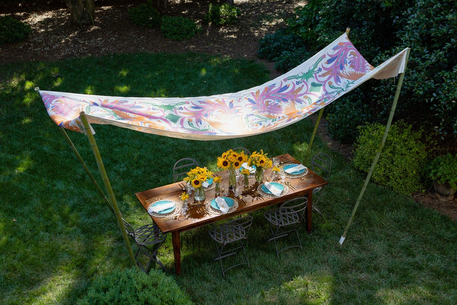 summer entertaining al fresco dining abode home canopy