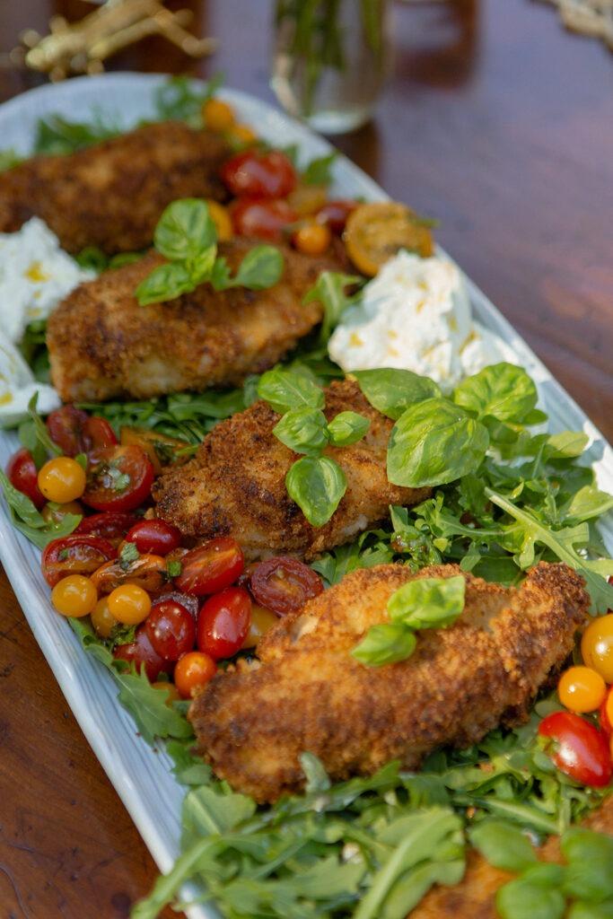 summer entertaining al fresco dining basil chicken saltimbocca recipe