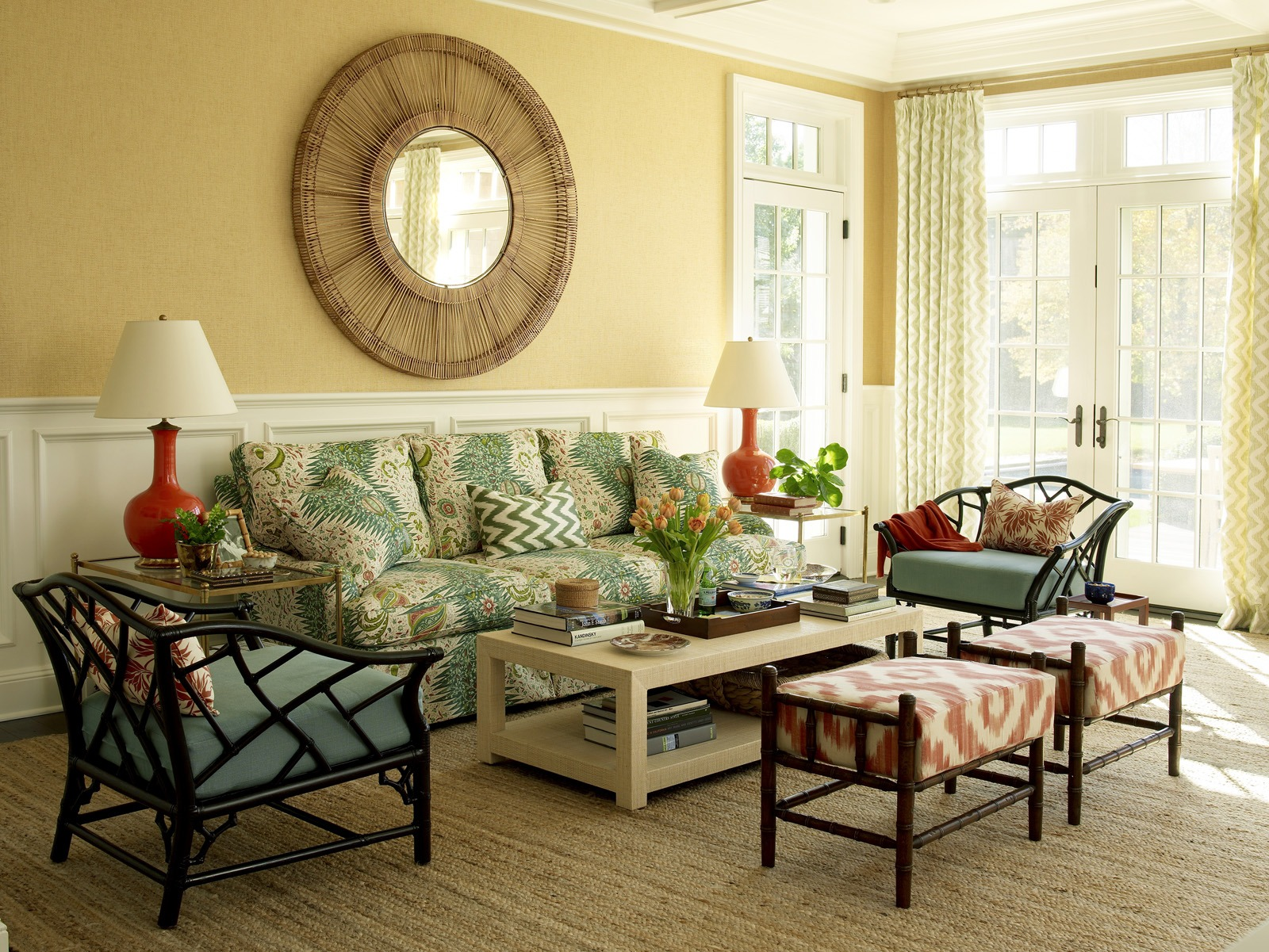 Meg Braff Designs Southampton home family room