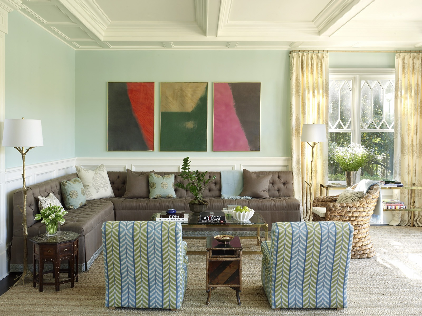 Meg Braff Designs Southampton home living room